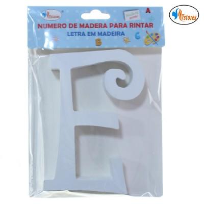 Letra de Madera Curvada 15cm