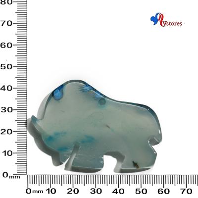 colgante de agata elefante