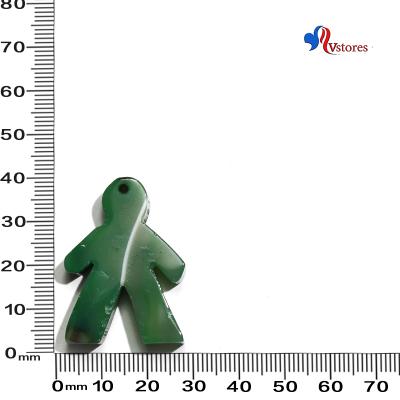 colgante de agata niño verde