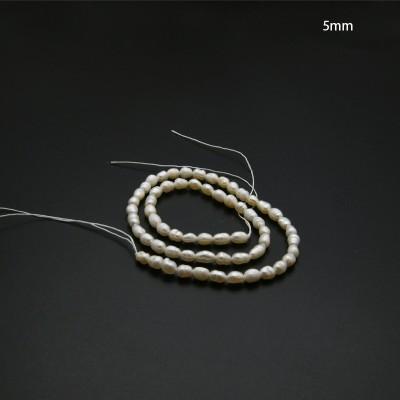 Tiras de perlas de río 5mm