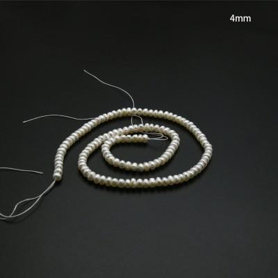 Tiras de perlas de río 4mm