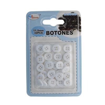 botones de plásticos blanco...