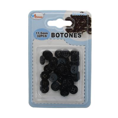 botones de plásticos negro...
