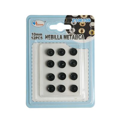 botones de presión negro 10mm