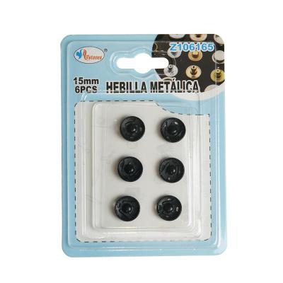 botones de presión negro 15mm