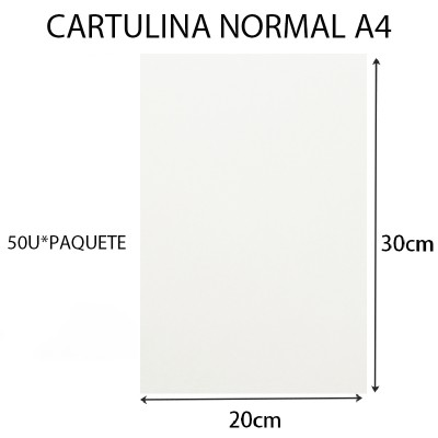 CARTULINA NORMAL A4...