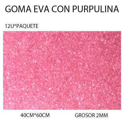 GOMA EVA CON PURPULINA...