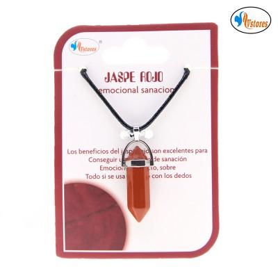 Colgante pendulo jaspe rojo