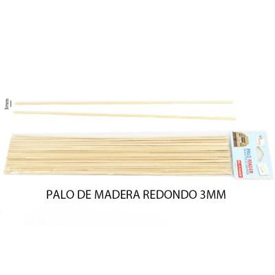 PALO DE MADERA REDONDO 3MM...