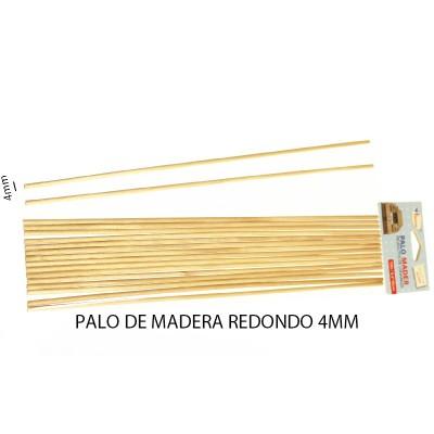 PALO DE MADERA REDONDO 4MM...