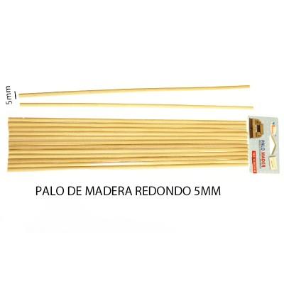 PALO DE MADERA REDONDO 5MM...
