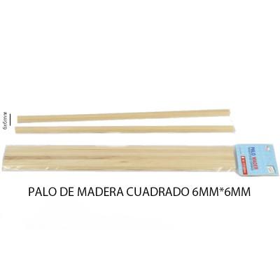 PALO DE MADERA CUADRADO 6*6MM