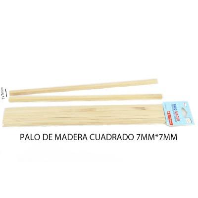 PALO DE MADERA 7*7MM CUADRADO