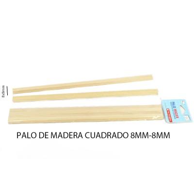 PALO DE MADERA CUADRADO 8*8MM